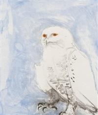 snowy owl from six owls by elisabeth frink