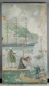an english holiday - dover harbour by mary adshead