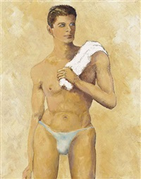 young bather by walter stuempfig