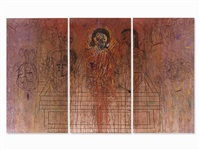 triptych grablegung by hermann nitsch