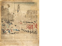 the bloody massacre perpetrated in king-street boston on march 5th, 1770... by paul revere