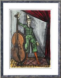 le clown violoncelliste by bernard buffet