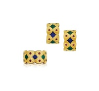 gold and enamel suite by buccellati