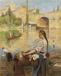 les lavandières à pont-sur-yvonne by andré chabellard