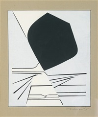 composition abstraite by victor vasarely