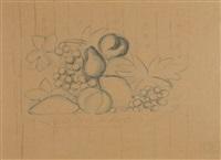 nature morte au compotier projet de tissus en collaboration avec bianchini-ferier by raoul dufy