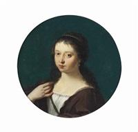 portrait of susanna pellicorne (neé van collen) by cornelis van poelenburgh