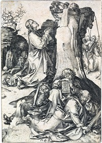 christ on the mount of olives by martin schongauer