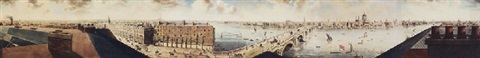 panorama of the thames from the albion mills near blackfriars bridge by robert barker