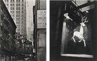 selected new york studies (italian festival, 19 rector street, and designer's window, bleecker street): two works by berenice abbott