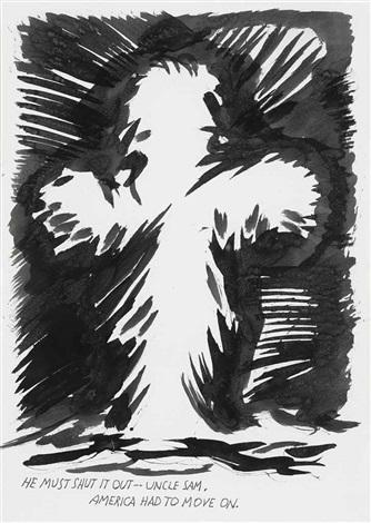 untitled (he must shut...) by raymond pettibon