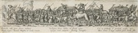 marschierende soldaten mit tross und kamel (after hans sebald beham) by johann theodor de bry