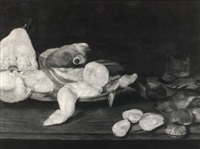 a still life of fish by alexander adriaenssen