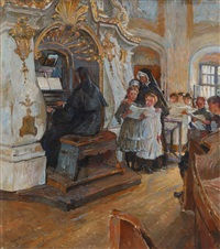 in der schloßkapelle weesenstein by ferdinand dorsch