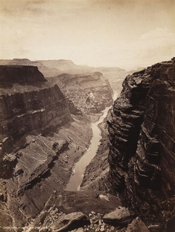 grand canon of the colorado river, looking west, usa by john k. hillers