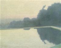 vor sonnenaufgang, schönbrunn by rudolf junk