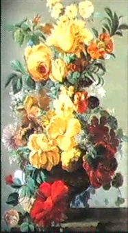 still lives with summer flowers by mary moser