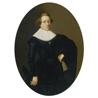 portrait of a young man by thomas de keyser
