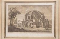 templo di minerva medico, presso porta maggiore by giuseppe vasi and giovanni battista piranesi