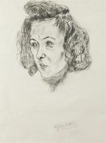portrait de sima feder by antonin artaud