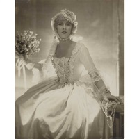 olga de meyer in bridal dress or possibly mrs. helen lee worthing by adolph de meyer