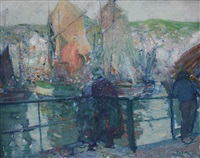 voiliers sur la seine by richard edward miller