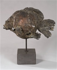 sculpture poisson by pieter vanden daele