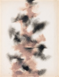 untitled (study in black and raw sienna) by norman lewis