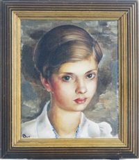 portrait of a young girl by constantin alajalov