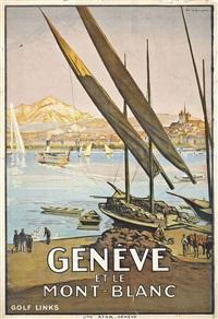 genève et le mont blanc by edouard elzingre