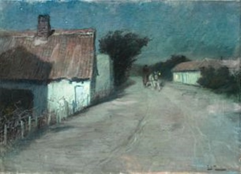 hjemkomsten by frits thaulow