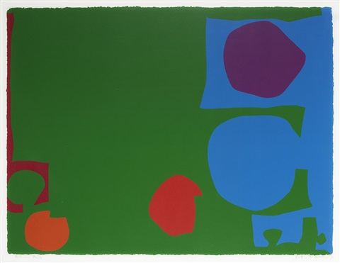 three reds in green and magenta in blue by patrick heron