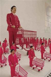 pink army by manit sriwanichpoom