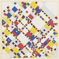 a portfolio of 10 paintings: 5 prints (5 works) by piet mondrian