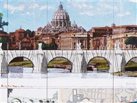 ponte sant angelo, wrapped by christo and jeanne-claude