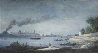 an extensive view of paris, seen from the park of the château de bercy by alexandre jean noel