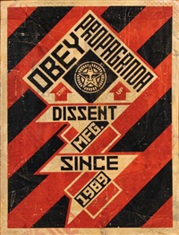 constructivist banner by shepard fairey