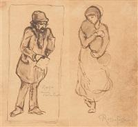 maternité et demandez l'ami du peuple (2 works) by armand rassenfosse