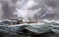 bateau pris dans la tempête by e. adam