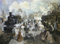 l'arrivée du train by vladimir litvinienko
