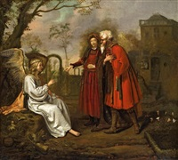 der engel erscheint manoah und seiner frau by jan victors