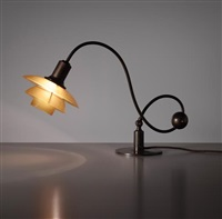 adjustable piano lamp, type 2/2 shades by poul henningsen