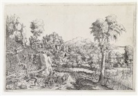 landscape with a vineyard by hans sebald lautensack