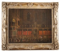 procession dans la basilique saint marc by david roberts