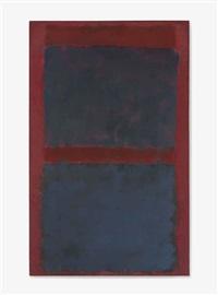 untitled (black on maroon) by mark rothko