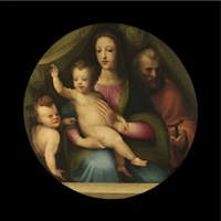 the holy family with the infant saint john the baptist by domenico beccafumi