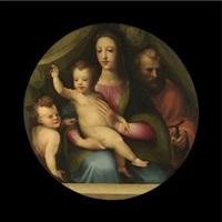 the holy family with the infant saint john the baptist by domenico beccafumi