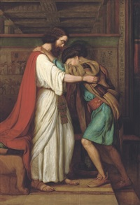 joseph and pharoah by william j. (webbe) webb