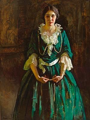lady in green by gertrude fiske