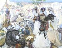 marché arabe by alphonse léon germain-thill